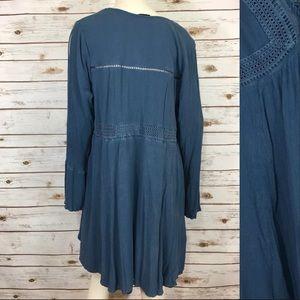 torrid Dresses - Torrid Eyelet Gauze Lace- Up Flowy Dress